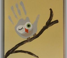 hand print crafts for fall | Crafts for Kids Blog » Tutorial : How to Make Handprint Owls