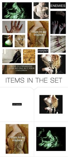 """""""Cersei Lannister"""" by minapap ❤ liked on Polyvore featuring art, contest, GameOfThrones and CerseiLannister"""
