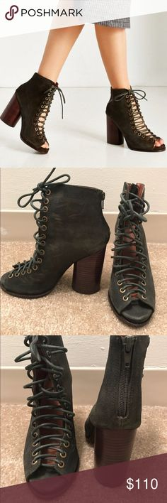 UO x Jeffrey Campbell Free Love Lace Up Heels Worn once // best fit sizes 7-7.5 Jeffrey Campbell Shoes Heels