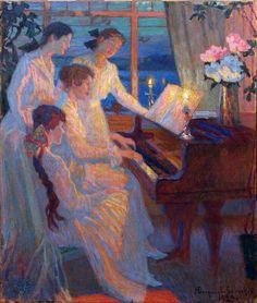 Bogdanov-Belsky Nikolai Petrovich (Russian, 1868 - 1945). Symphony. 1920.