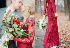 Tendance Robe du mariée 2017/2018  Red lace dress Marchesa Notte wedding dress