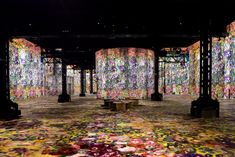Colourful projections of early paintings, including those by Gustav Klimt and Egon Schiele, are displayed at the Atelier des Lumière – a digital museum dedicated to fine art in Paris. Gustav Klimt, Paris Atelier, Yves Saint Laurent, Rodin Museum, Projection Mapping, Digital Museum, New Museum, Museum Of Fine Arts, Silhouette