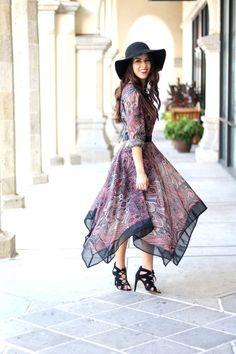 Boho Chic & Bohemian Style Paisley Print Dress. Bohemian Fashion. Bohemian…