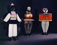 Costumes from Oskar Schlemmer's 1922 Triadic Ballet