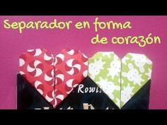 Separador de corazón | Origami - YouTube