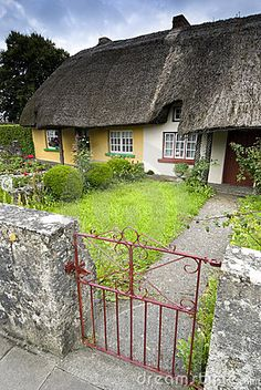 Heritage Cottage in Adare, Republic of Ireland, claimed by many to be Ireland's most picturesque village.
