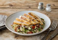 Chicken with Herbed Pearl Barley Salad