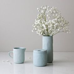 Match our ceramic jugs perfectly with our sugar bowl and milk jug set. Duck egg blue.  Shop at www.sarijane.com.au