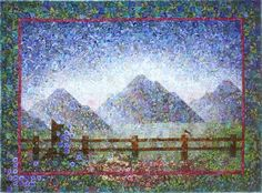 Morning Glory. I was inspired by the mountains and meadows around Grand Teton National Park.