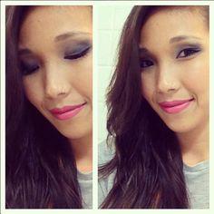 #make colorida para o fim de semana! #makeup #asianmakeup#nipotips #makeuplovers produtos: sombras #sephora batom #boticario