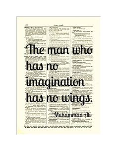 Muhammed Ali Print Imagination Quote Text by reimaginationprints, $10.00