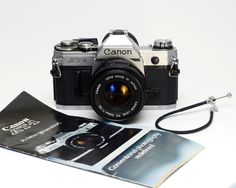 Vintage Canon AT-1 35mm Film SLR Camera with Canon FD f1.8 50mm Lens by ValueBliss on Etsy