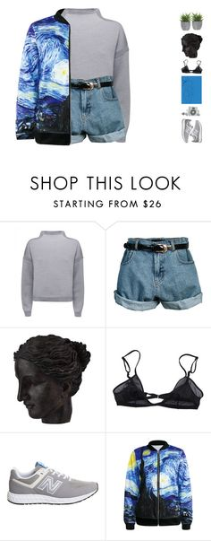 """Art Hoe"" by teabaq ❤ liked on Polyvore featuring Jaeger, Retrò, Ren-Wil, Bllack by Noir, New Balance and Lux-Art Silks"
