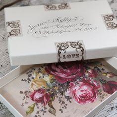 Wedding Invitation Box. $3.75, via Etsy.