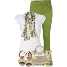 Green Skinny Jeans outfit