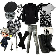 Marukaite Chikyuu: Prussia, created by stab-me-abby on Polyvore