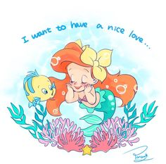 Baby Ariel and Flounder Más