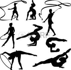 gymnastique rythmique: gymnastique rythmique silhouette -
