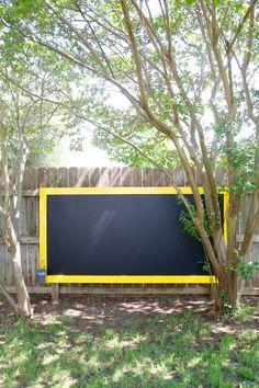 giant outdoor chalkboard, chalkboard paint, crafts, outdoor living