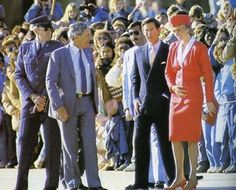 November 9 1985 Charles and Diana arriving in Washington D.C