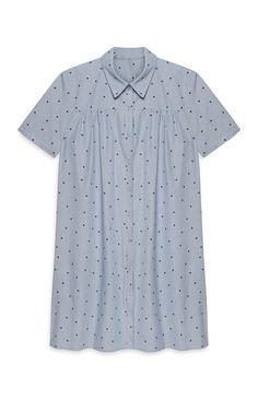 Primark - Blue Poplin Shirt Dress