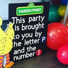 Sesame Street Birthday Party Ideas | Photo 1 of 28 | Catch My Party