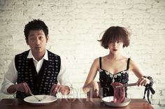 How awesome is Gong Hyo Jin?  Ha Jung Woo is nice too. From Vogue