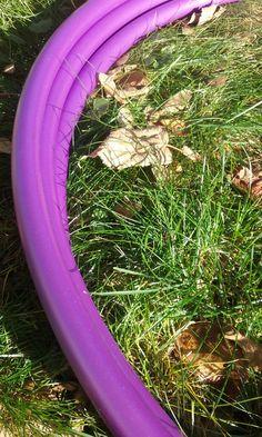 Dark purple Polypro is a must for purple lovers. #purplepolypro #purplehoop #hulahoop #polypro #hooping