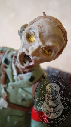 Portfolio of Cakes: Natalie Madison's Artisan Cakes The glowing eyes of the Black Ops zombies scare me...just a little...Highly detailed hand sculpted chocolate figurine: single $95, couples $120
