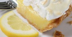 Fresh lemon juice and lemon zest make this lemon meringue pie filling tart and lovely. And when it's poured into a waiting crust, topped with billows of meringue, and baked, it's downright dreamy. Lemon Desserts, Lemon Recipes, Pie Recipes, Just Desserts, Baking Recipes, Delicious Desserts, Dessert Recipes, Yummy Food, Kitchen Recipes