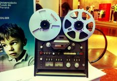 Um editor de som bem vintage