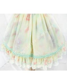 Little Dipper Star Night Sky Chiffon Lolita Skirt #lolitadress  #skirt
