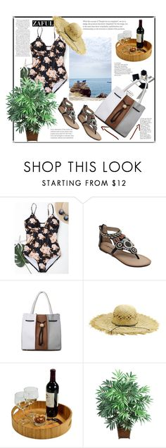 """Zaful."" by natalyapril1976 on Polyvore featuring Mode, H&M, Picnic at Ascot und Nearly Natural"