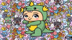#dinosaur #boy by #GKW #kawaii #artpop