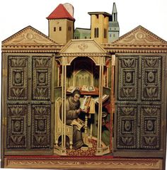 Doors are hand carved Toy Theatre, Theater, Shadow Box, Barcelona Cathedral, Hand Carved, Auction, Miniatures, Carving, Doors