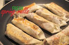 Fast and fresh dinner - healthy spring rollsIRONMUM KARLA