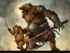 Father teaching his son how 2 be a warrior~
