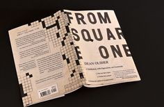 """""""From Square One"""" - a book about crossword puzzles. IWISHIWISHIWISH they had lined up that E with the grid. D:"""