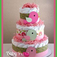 baby shower on pinterest diaper cakes bird theme and pink bird