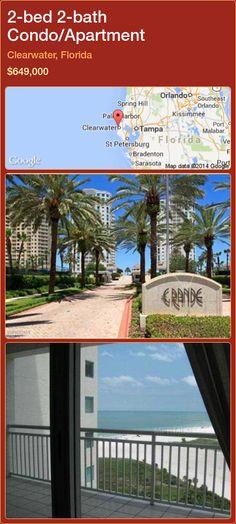 2-bed 2-bath Condo/Apartment in Clearwater, Florida ►$649,000 #PropertyForSaleFlorida http://florida-magic.com/properties/44968-condo-apartment-for-sale-in-clearwater-florida-with-2-bedroom-2-bathroom