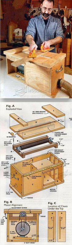 Drum Sander Plans - Sanding Tips, Jigs and Techniques | WoodArchivist.com