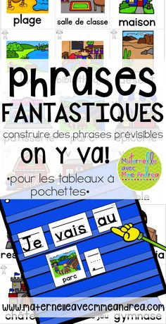 Phrases fantastiques - On y va! French Teaching Resources, Teaching French, Teaching Spanish, Teaching Reading, French Sentences, Communication Orale, New Vocabulary Words, French For Beginners, French Songs