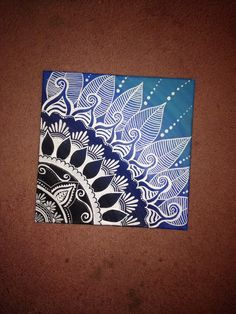 Henna Design On Canvas 12x12 by RochellesPaintings on Etsy