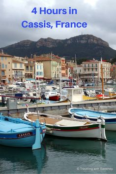 4 Hours in Cassis, France: Top things to do in this coastal village of Provence. There are fine restaurants with authentic Provencal dishes, a renowned parfumerie, historic buildings, and more to see as you stroll the narrow cobblestone streets of the village and along the port with majestic Cap Canaille, one of the largest sea cliffs in Europe rarely out of sight.