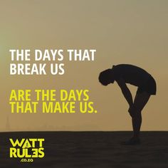 The days that break us. Are the days that make us. #running #fitness #motivation