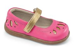 See Kai Run Kalia - Hot Pink and gold glitter! The perfect shoe for busy toddlers!