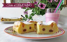 Una squisita torta di semolino con uvetta sultanina è la nuova ricetta del blog di oggi, una ricetta antica e con molte varianti regionali