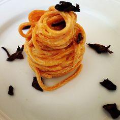 #raw #spaghetti with #porcini #mushrooms #nudoecrudogourmet  www.nudocrudo.net www.facebook.com/NudoeCrudoRawFoodItalyUk