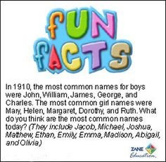 Fun Facts 17 from Zane Education at http://www.zaneeducation.com