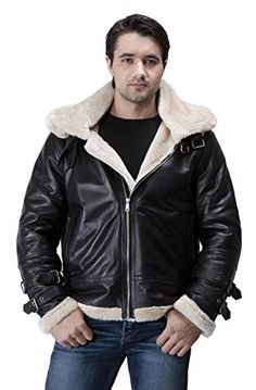 United Face Mens Black Lambskin Leather Aviator Jacket B-3 Bomber With Hoodie   United Face Mens Black Lambskin Leather Aviator Jacket B-3 Bomber With Hoodie A hot shearling B-3 bomber with edgy details to keep you looking stylish yet warm! This leather bomber jacket is made from smooth lambskin leather and is lined in soft faux fur for warmth in any conditions. The dual adjustable collar keeps your neck covered, while the slash pockets will give you a place to store necessities. To ..